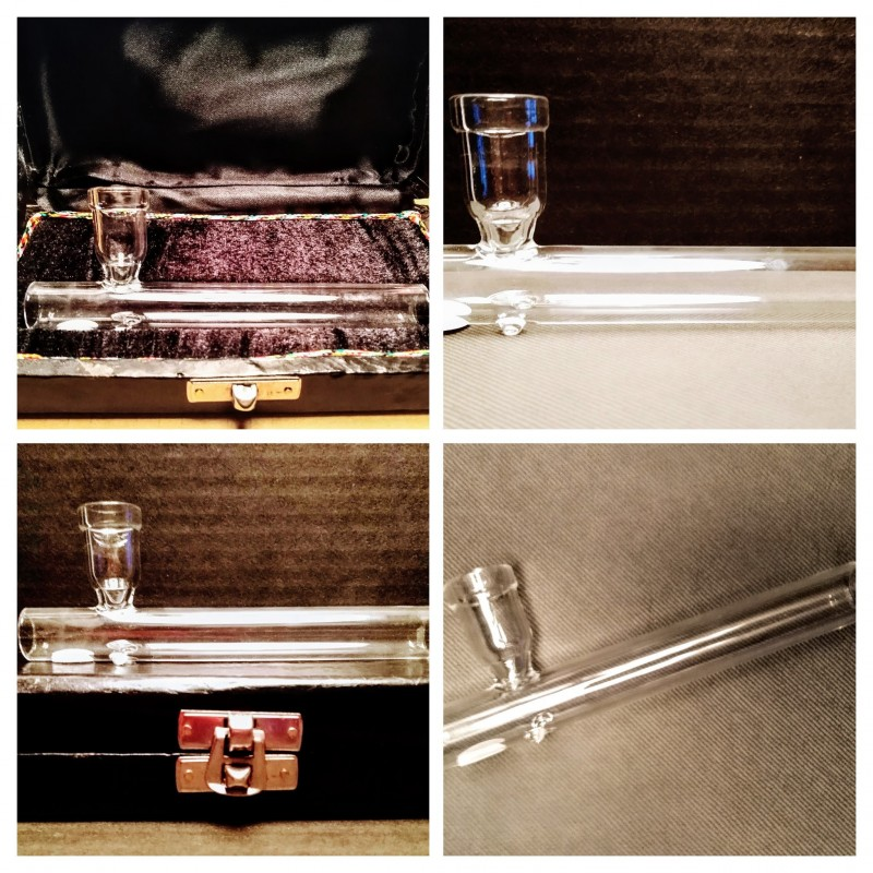 BOXED GLASS SHOTGUN PIPE 12CM